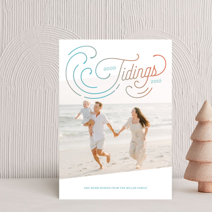 """""""Holiday Tides"""" - Vintage Holiday Postcards in Reef by Paige Rothhaar."""