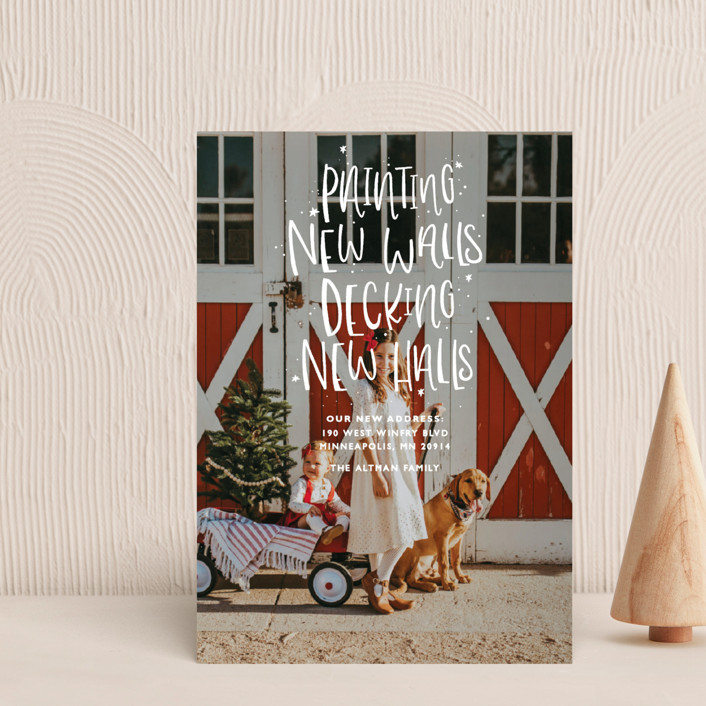 """""""New Halls"""" - Bohemian, Funny Holiday Postcards in Ice by Bethany Anderson."""