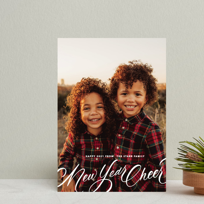 """""""Script Christmas"""" - Holiday Postcards in Winter by Up Up Creative."""