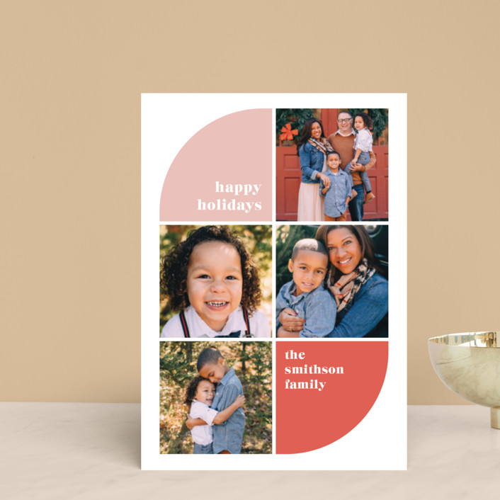 """Corner Curve"" - Holiday Postcards in Petal by Ella Weaver."