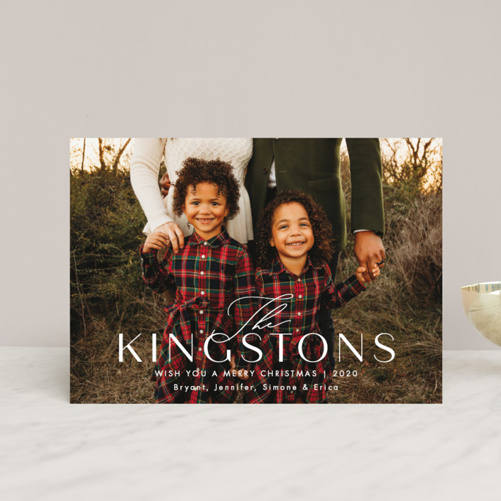 """""""Kingston"""" - Holiday Postcards in Snow by Amy Kross."""