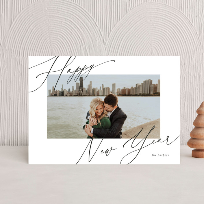 """""""scripted greeting"""" - Holiday Postcards in Ink by Kasia Labocki."""