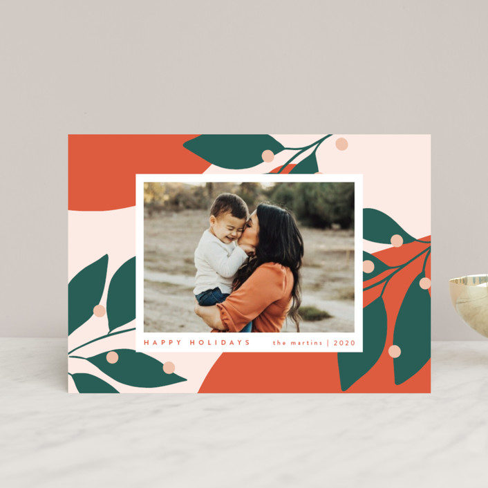 """Bold and Bright"" - Modern Holiday Postcards in Mandarin by Kelly Schmidt."