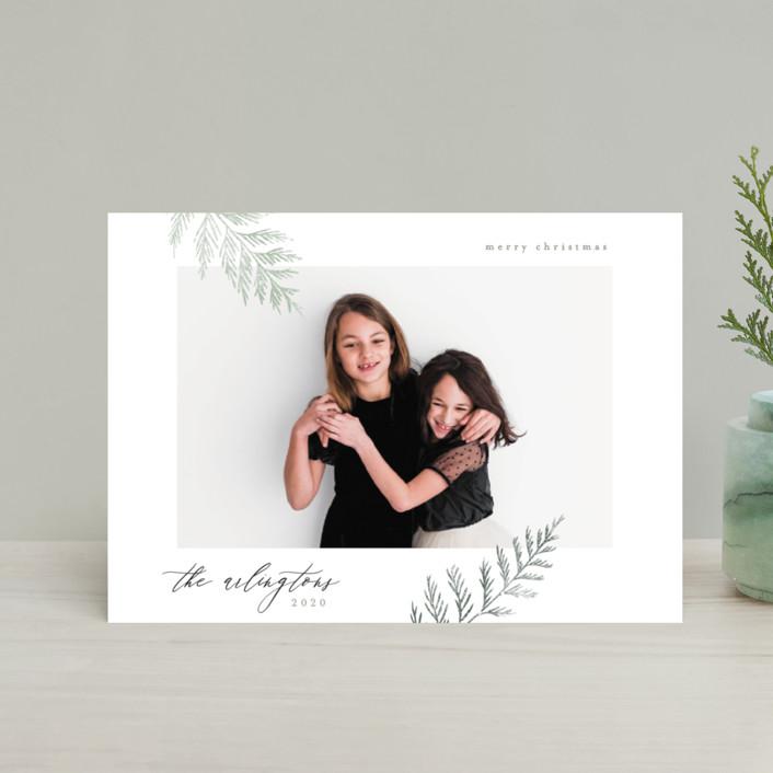"""Minimal Elegance"" - Holiday Postcards in Snow by Kelly Schmidt."