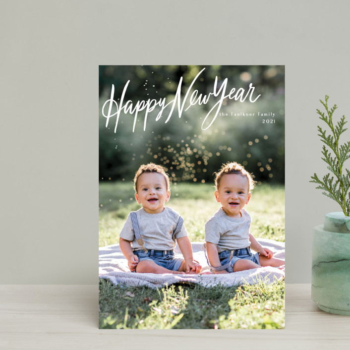 """""""Chirography"""" - Bohemian Holiday Postcards in Snowflake by Rebecca Daublin."""