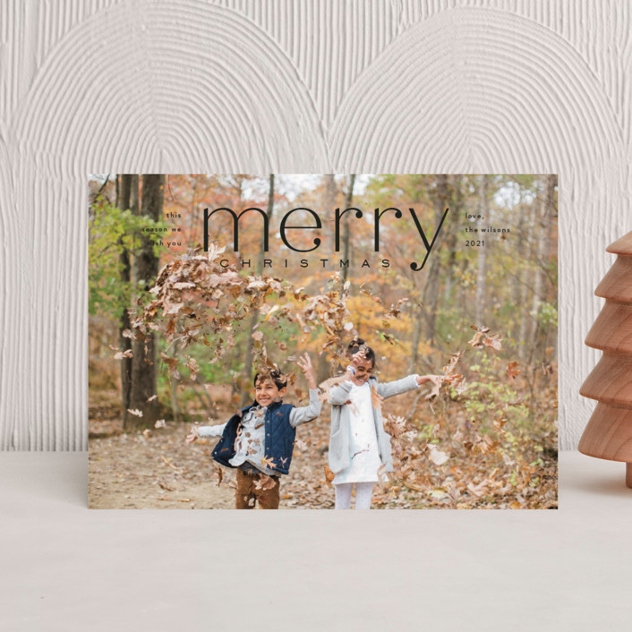 """Mod Tidings"" - Holiday Postcards in Midnight by Amy Kross."
