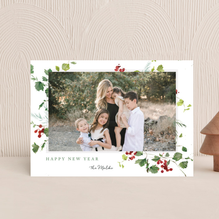 """Festive Ivy"" - Holiday Postcards in Snow by Kelly Ventura."