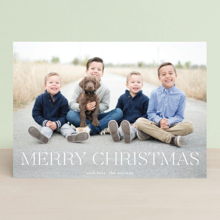 """""""formal fancy merry"""" - Holiday Postcards in Snow by Phrosne Ras."""