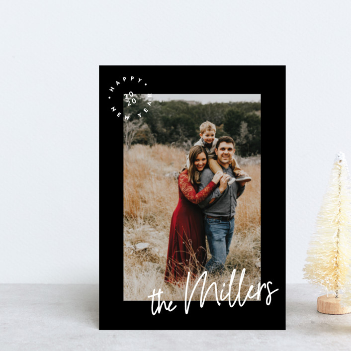 """""""The Family Name"""" - Holiday Postcards in Onyx by Owl and Toad."""