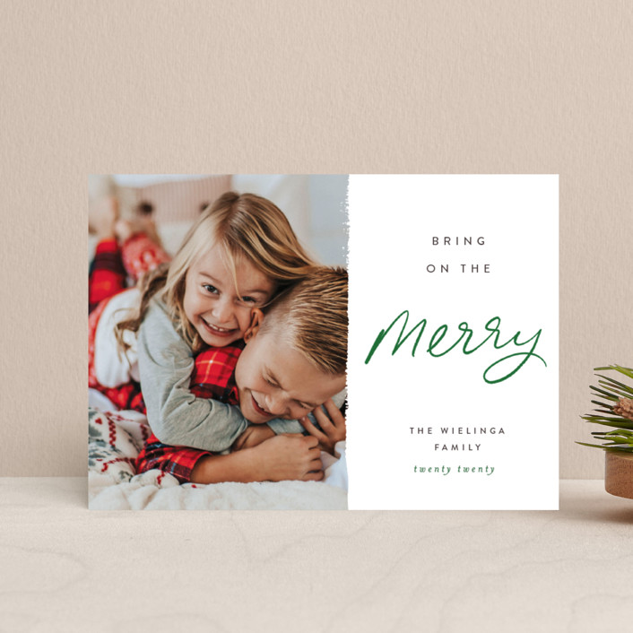 """""""Be the Merry"""" - Holiday Postcards in Merry by Pixel and Hank."""