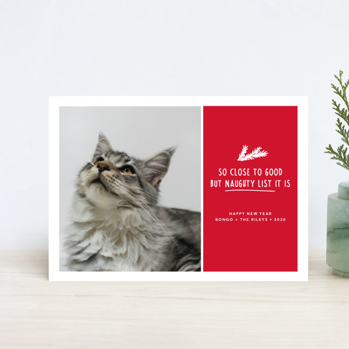 """So Close"" - Holiday Postcards in Candy Cane by Paula Pecevich."