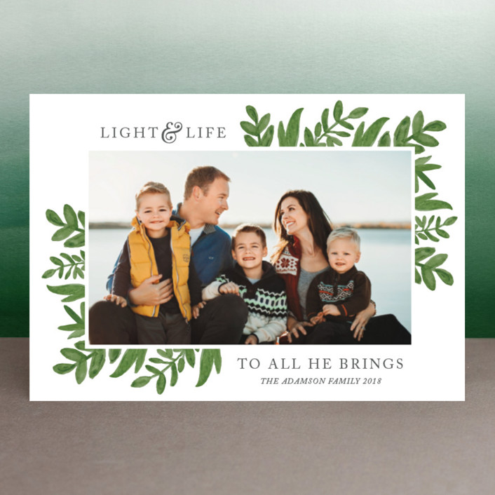 """Light & Life"" - Holiday Postcards in Foliage by Kate Sorensen."