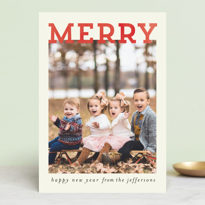 """""""Merry and Silly"""" - Vintage Holiday Postcards in Cream by Chris Griffith."""