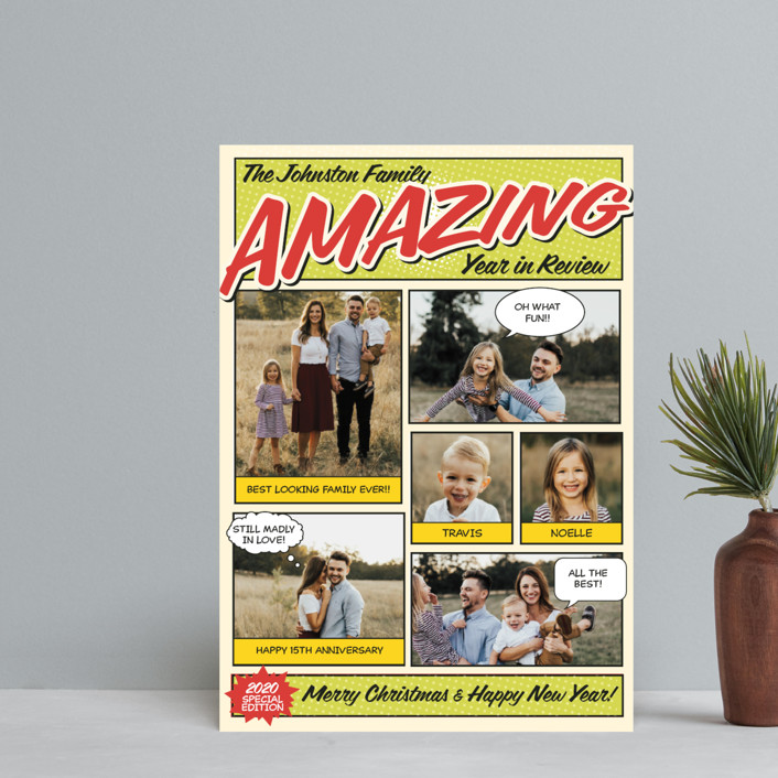 """""""Amazing Comic Book"""" - Vintage Holiday Postcards in Green Apple by Coco and Ellie Design."""