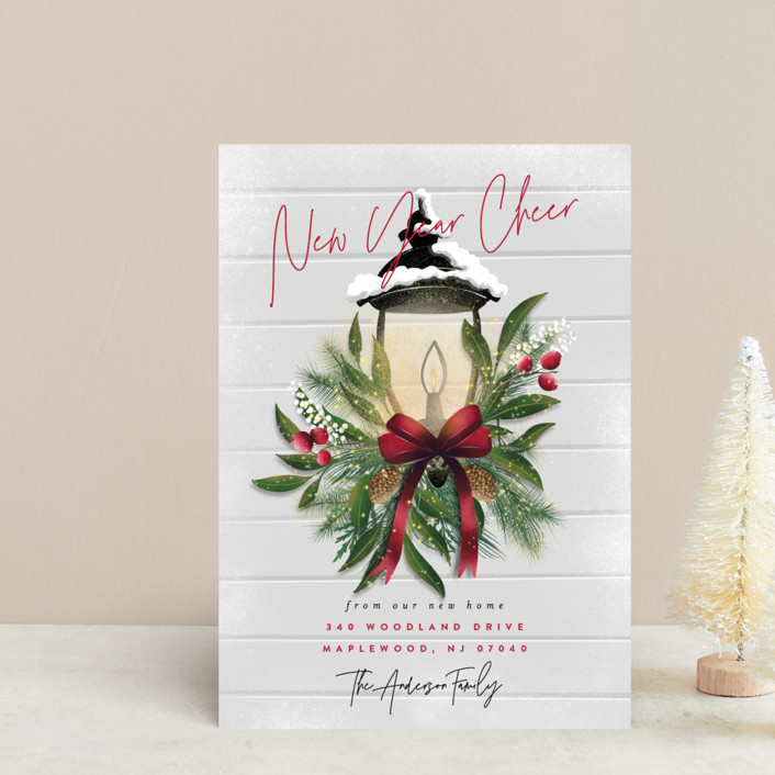 """""""Brightest Wishes"""" - Holiday Postcards in Poinsettia by Ana Sharpe."""