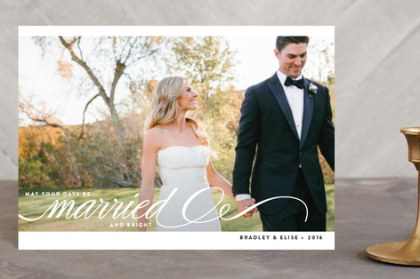 Married + Bright Holiday Postcards
