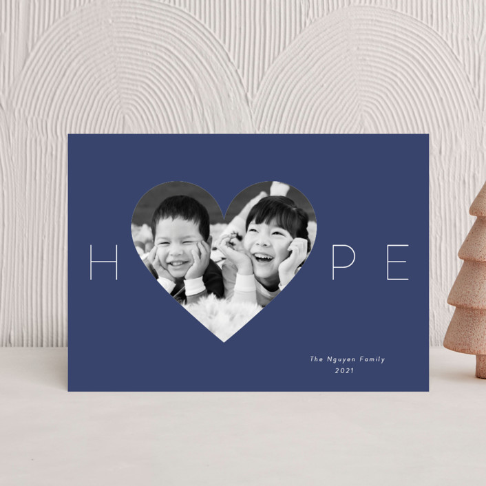 """""""Hope Heart"""" - Holiday Postcards in Night by Kim Dietrich Elam."""