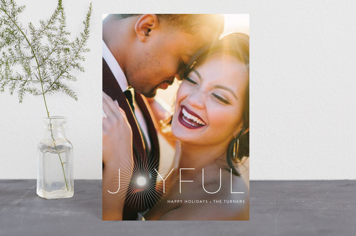 """""""Joyful & Glowing"""" - Holiday Postcards in Pearl by Chryssi Tsoupanarias."""