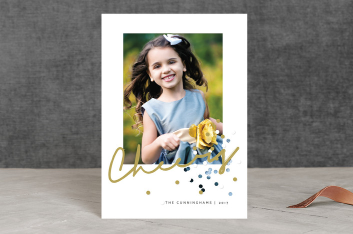 """""""Confetti Joy"""" - Holiday Postcards in Apple Cider by fatfatin."""