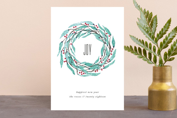 """Circle of Joy"" - Holiday Postcards in Eucalyptus by Kate Ross."