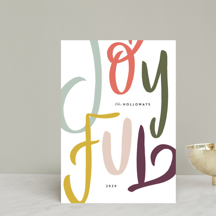 """""""Hand Lettered"""" - Holiday Postcards in Pine by Julie Murray."""