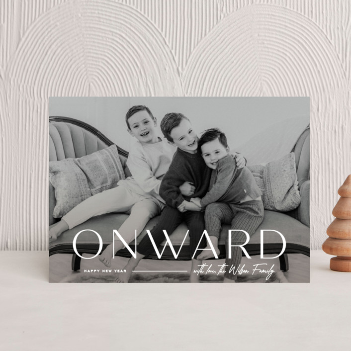 """""""Onward"""" - Holiday Postcards in Icing by Owl and Toad."""
