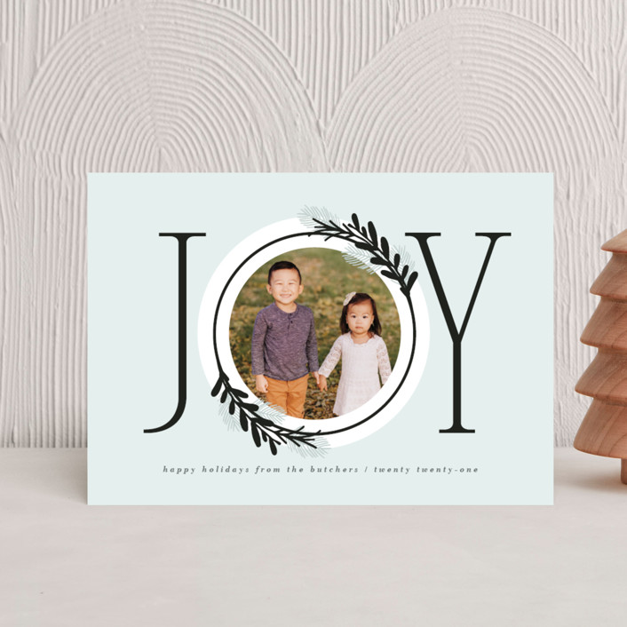 """Center Joy"" - Modern Holiday Postcards in Cookie Dough by JeAnna Casper."