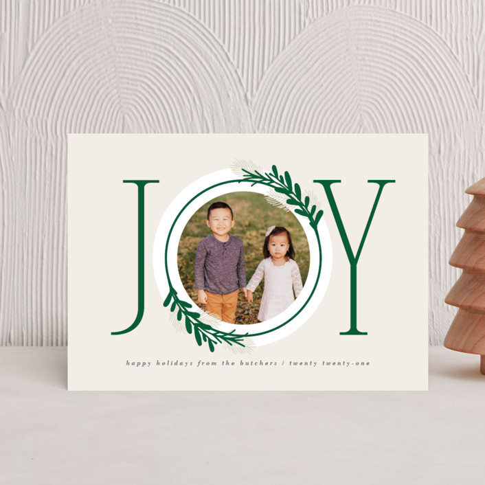 """Center Joy"" - Holiday Postcards in Pine by JeAnna Casper."