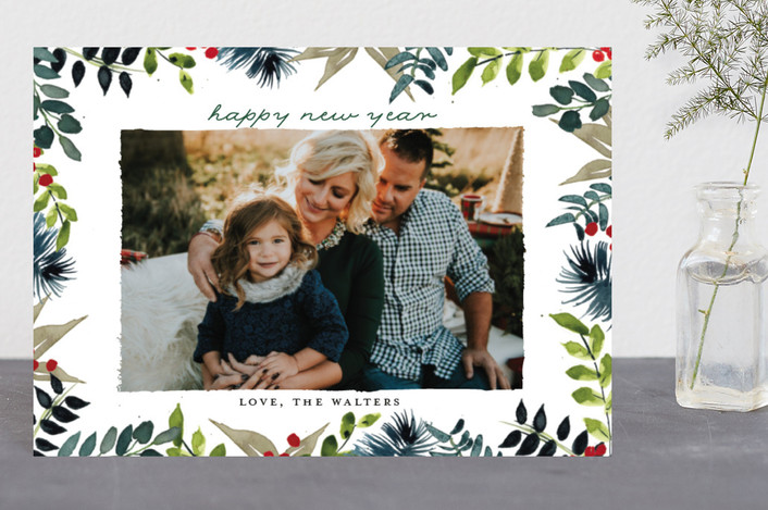 """""""Winter Whimsy"""" - Holiday Postcards in Fern by Lindsay Megahed."""