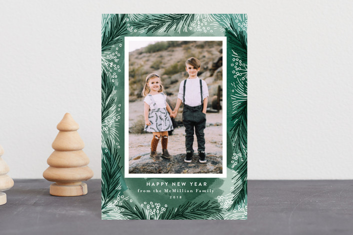 """Frosty Pines"" - Holiday Postcards in Pine by Alethea and Ruth."