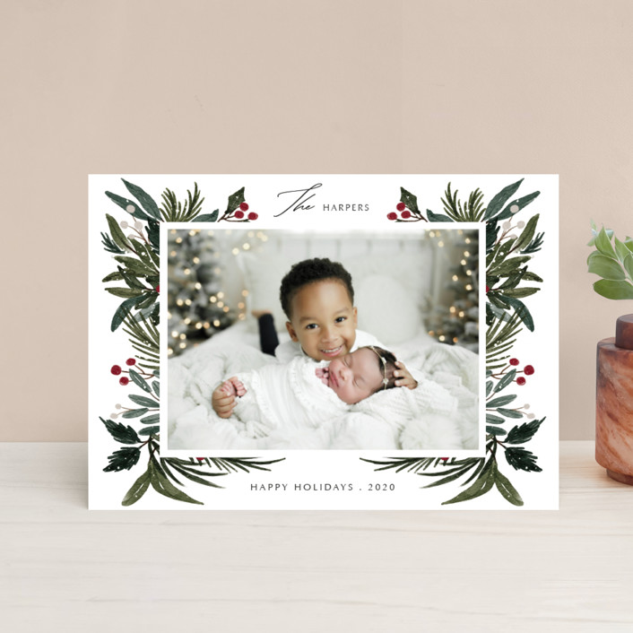 """Festive Love"" - Holiday Postcards in Fern by Elly."