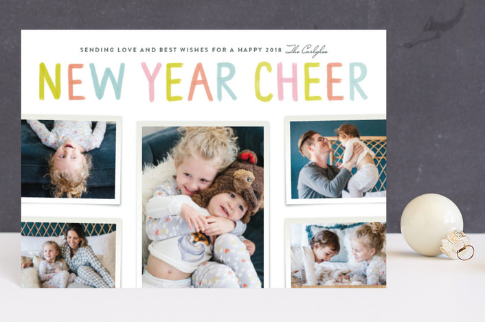 """""""Cheer for a New Year"""" - Holiday Postcards in Candy by Kelly Nasuta."""