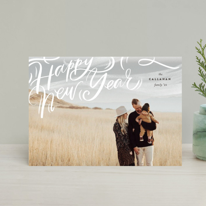 """""""Windswept"""" - Bohemian Holiday Postcards in Cocao by Julie Murray."""