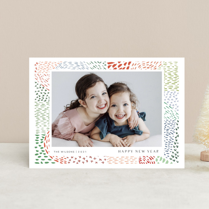 """""""Merry Marks"""" - Bohemian Holiday Postcards in Holly by Kelly Ventura."""