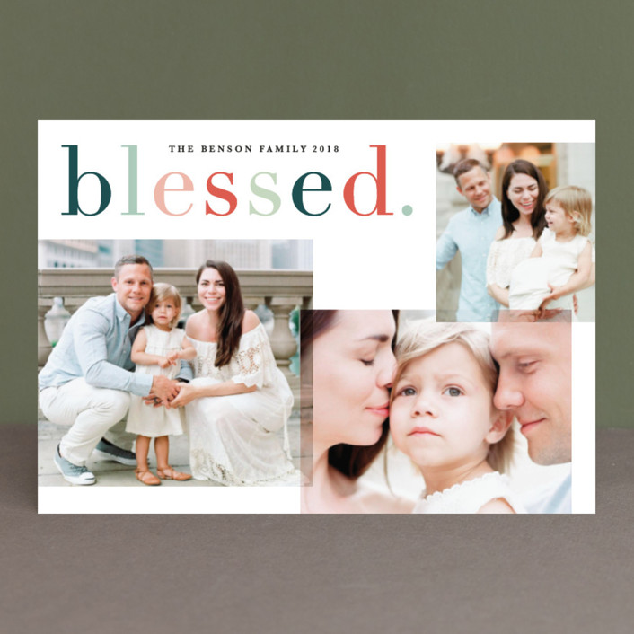 """""""Colorfully blessed"""" - Holiday Postcards in Cheerful by Sweta Modi."""