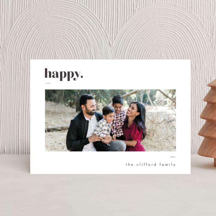 """Bold Merry"" - Holiday Postcards in Ash by That Girl Press."