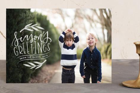 Seasons greetings badge Holiday Postcards
