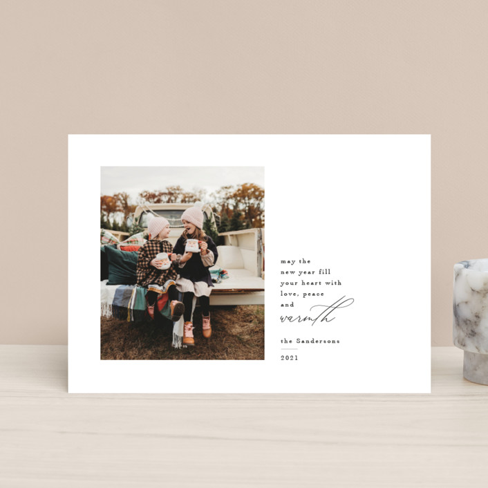 """""""Love Peace and Warmth"""" - Holiday Postcards in Ink by Kelly Williams."""