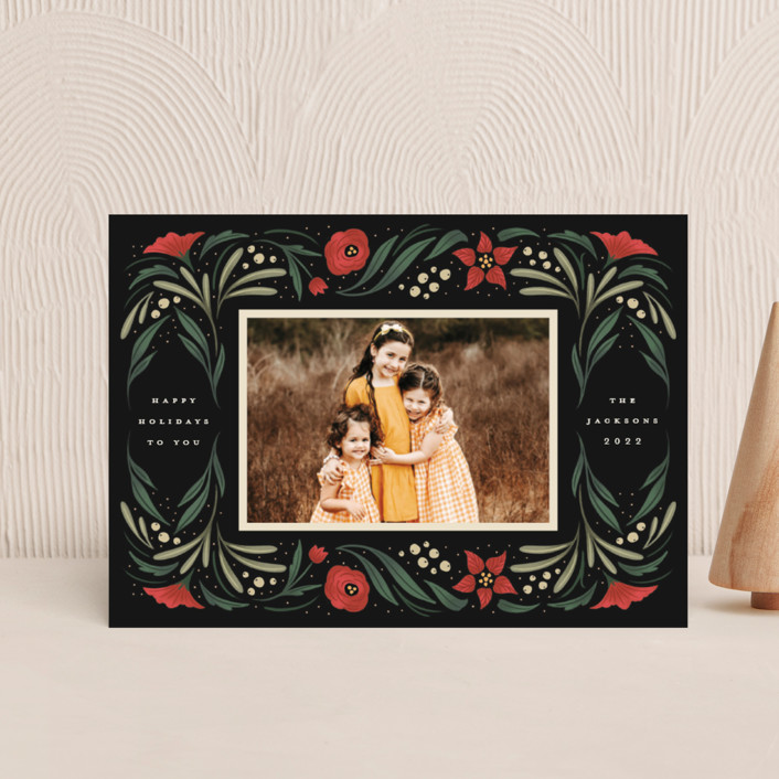 """""""Happy Holiday Frame"""" - Holiday Postcards in Pine by Grae."""