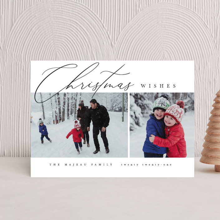"""""""Editorial chic"""" - Holiday Postcards in Snow by Kelly Schmidt."""