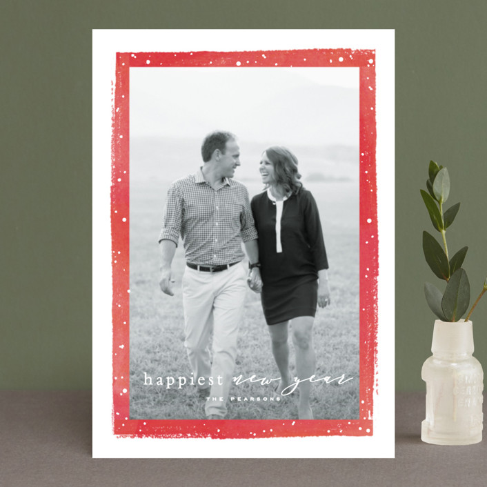 """Together Always"" - Holiday Postcards in Berry by Hooray Creative."