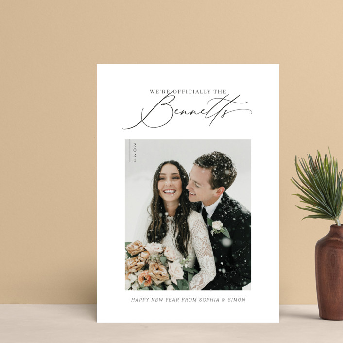 """""""Officially Official"""" - Holiday Postcards in Tuxedo by Carolyn Kach."""