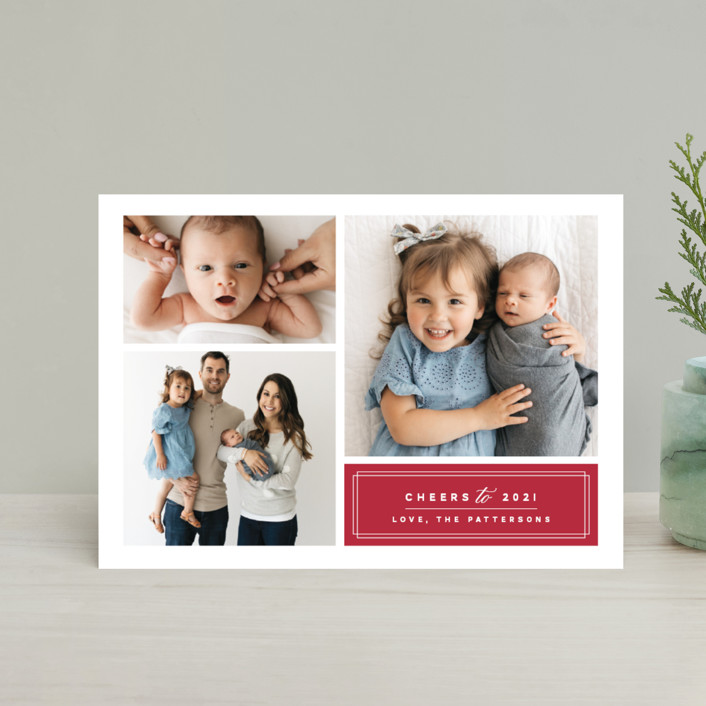 """Classic Trio"" - Holiday Postcards in Holy Berry by Griffinbell Paper Co.."