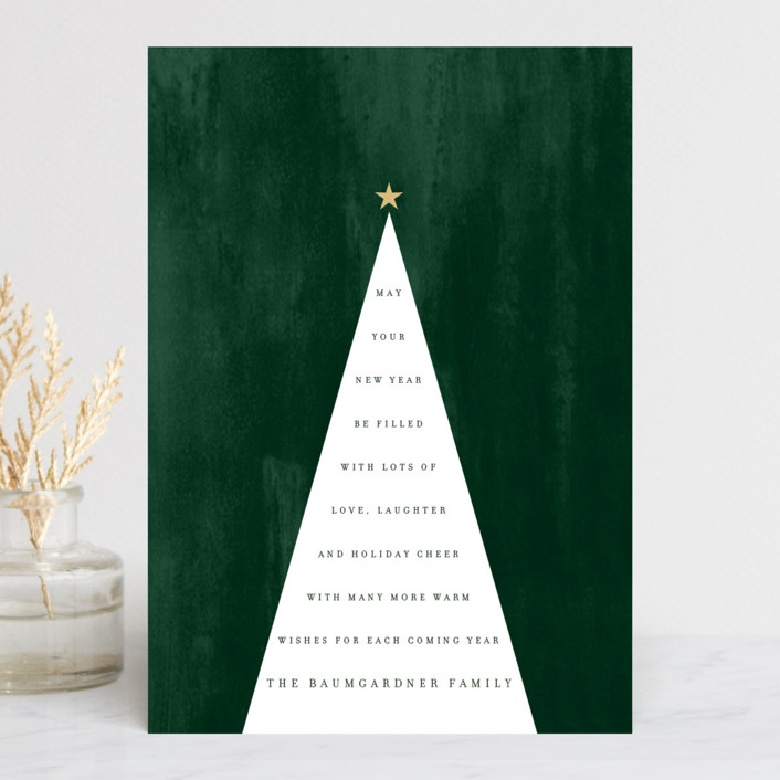 """Type Tree"" - Holiday Postcards in Moss by Baumbirdy."