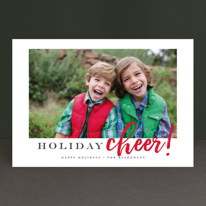 """Best Ever"" - Holiday Postcards in Cardinal by Jessica Williams."