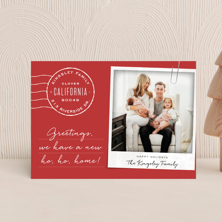 """""""Ho Ho Home"""" - Holiday Postcards in Holly by Leah Bisch."""