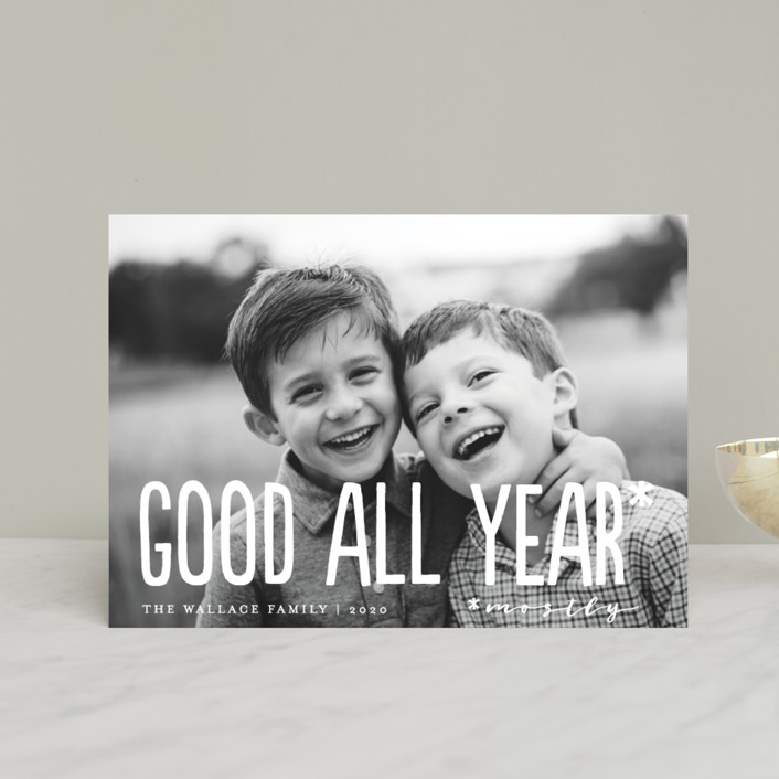 """Good All Year"" - Holiday Postcards in Snowflake by Amy Payne."