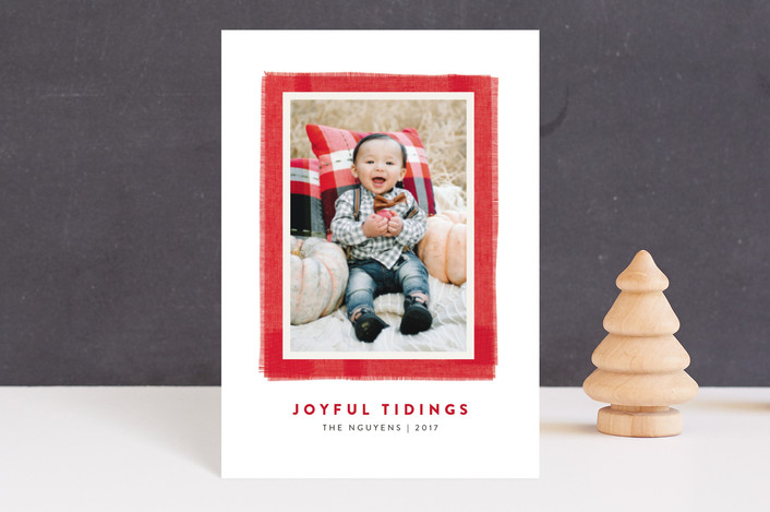 """Joyful Frame"" - Holiday Postcards in Cherry by Kelly Nasuta."