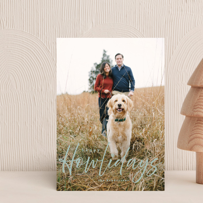 """""""Howliday"""" - Funny Holiday Postcards in Bone by Vanessa Doyle."""