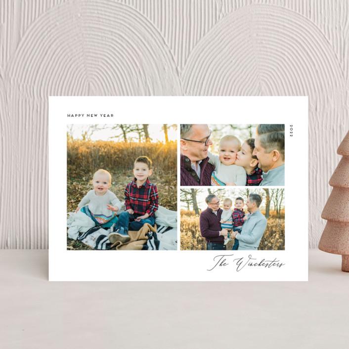 """""""Minimal Chic"""" - Holiday Postcards in Onyx by Genna Blackburn."""